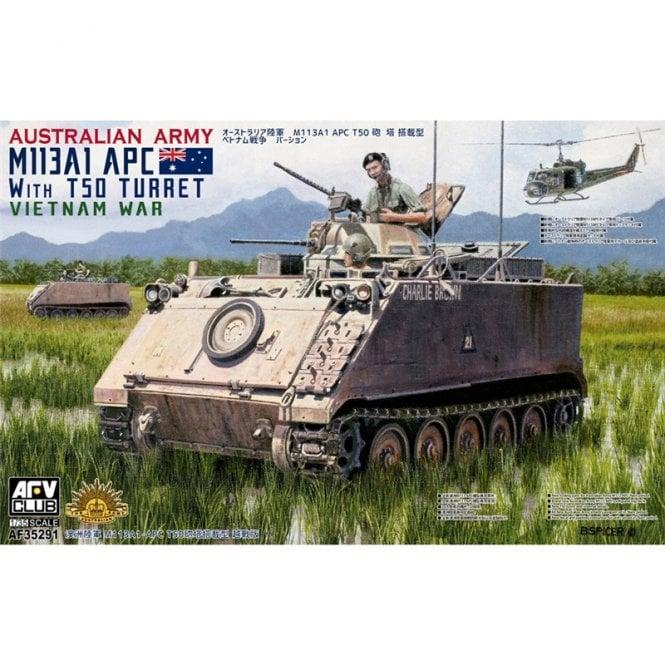 AFV Club 1:35 Australian Army M113A1 APC w/ T50 turret Vietnam War Military Model Kit