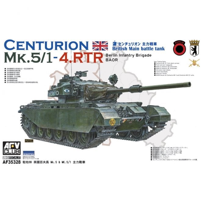 AFV Club 1:35 Centurion Mk 5/1 4 RTR Berlin Infantry Brigade BAOR Military Model Kit