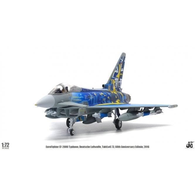 JC Wings 1:72 Eurofighter EF2000 Typhoon Deutsche Luftwaffe, TaktLwG 73, 60th Anniversary Edition, 2019