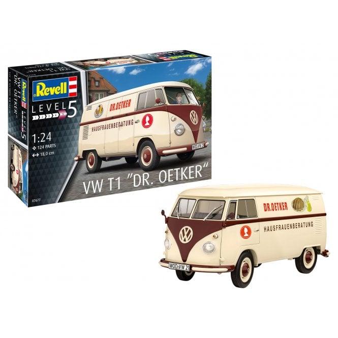 """Revell 1:24 Volkswagen T1 """"Dr. Oetker"""" Car Model Kit"""