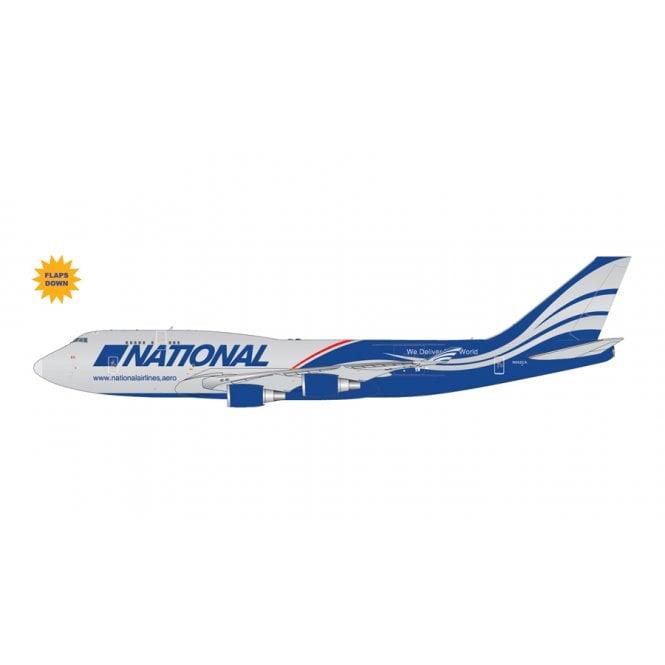 Gemini Jets 1:400 Boeing B747-400BCF National Airlines (Flaps Down) Reg - N592CA