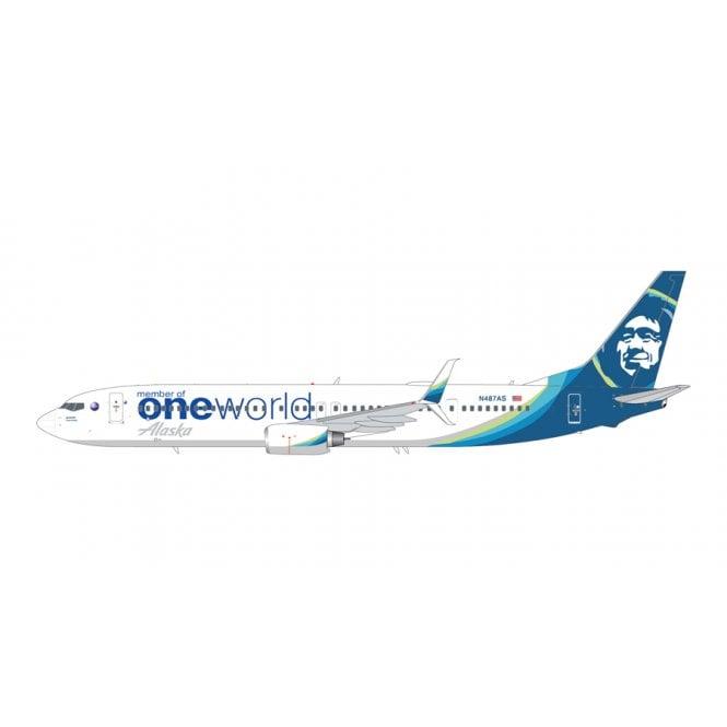 Gemini Jets 1:200 Boeing B737-900ER Alaska Airlines ' One World Livery ' Reg - B487AS
