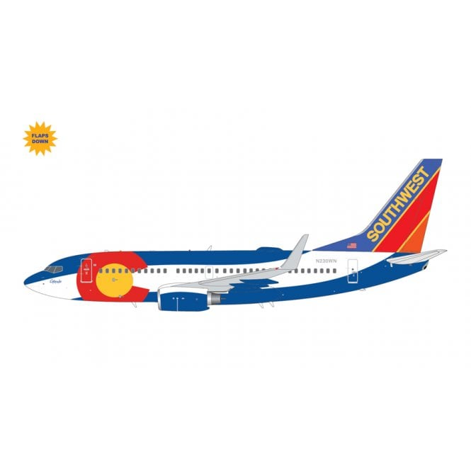 Gemini Jets 1:200 Boeing B737-200 Southwest Airlines ' Colorado One Livery ' (Flaps Down) Reg - N230WN