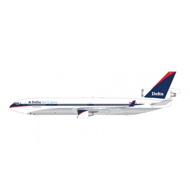 Gemini Jets 1:200 McDonnell Douglas MD-11F Delta Airlines ' Interim Livery ' Polished Belly ' Reg - N812DE
