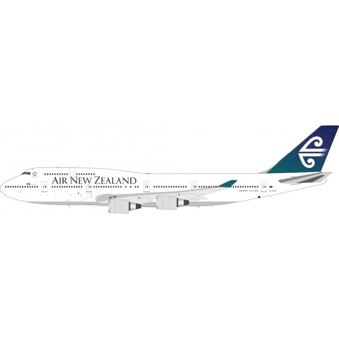 InFlight 200 Boeing 747-419 Air New Zealand Reg - ZK-NBV - 1:200 Scale & Collectors Coin