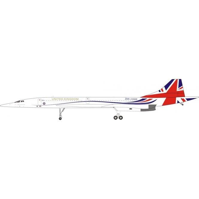 InFlight 200 Concorde UK Flag ZZ888 United Kingdom RAF Fantasy - 1:200 Scale