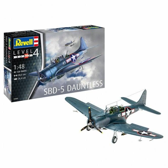 Revell 1:48 SBD-5 Dauntless US Navy Dive Bomber Aircraft Model Kit