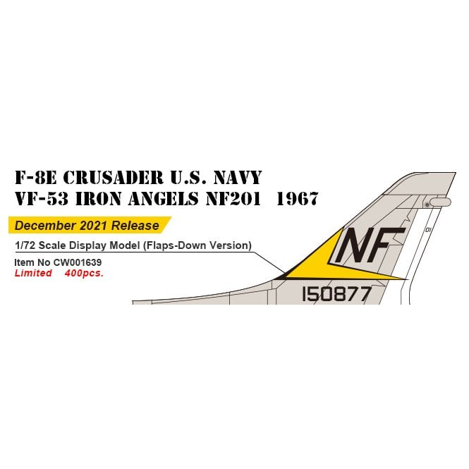 Century Wings 1:72 F-8E Crusader VF-53 Iron Angeles NF209 1967 ( Flaps Down version )