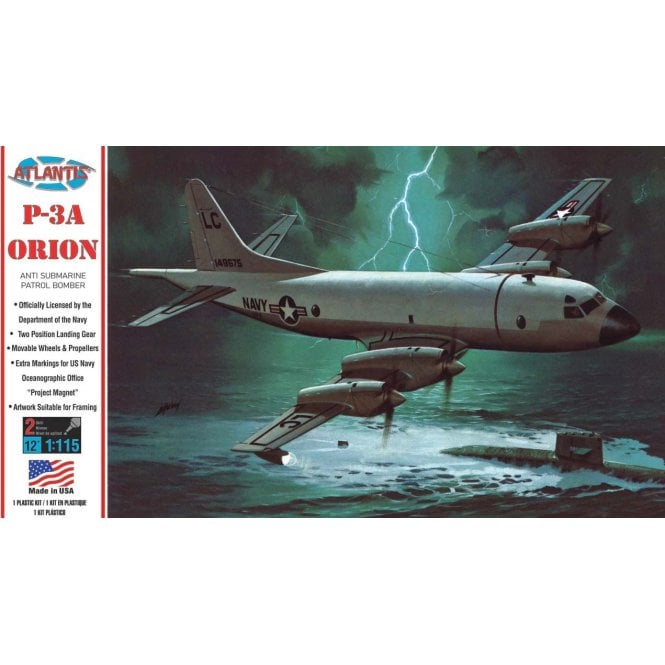 Atlantis Models 1:115 P3A Orion Aircraft Model Kit