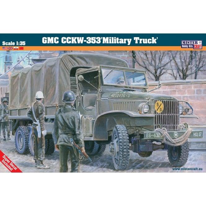 Mistercraft 1:35 GMC CCKW-353 Military Truck Model Kit
