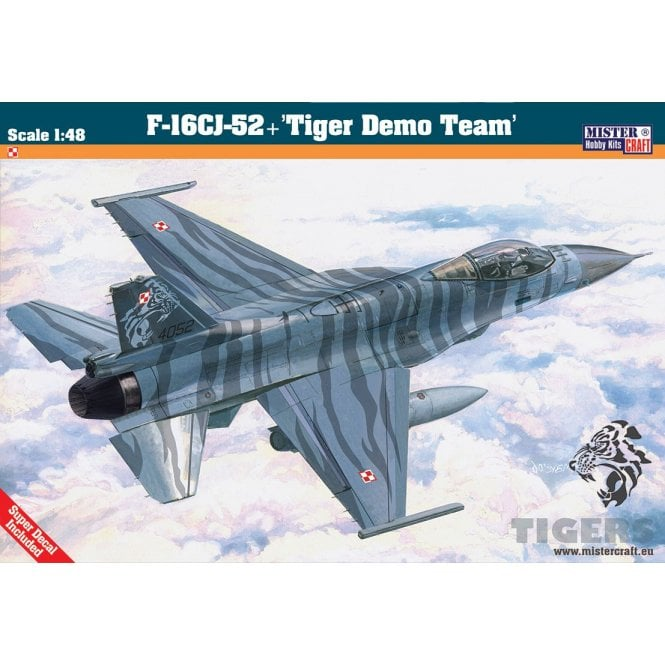 Mistercraft 1:48 F-16 CJ-52 Tiger Demo Team Aviation Kit