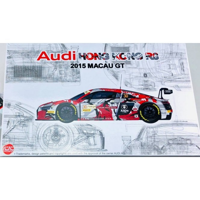 NUNU 1:24 Audi R8 LMS GT3 GP macau 2015 FIA-GT Car Model Kit