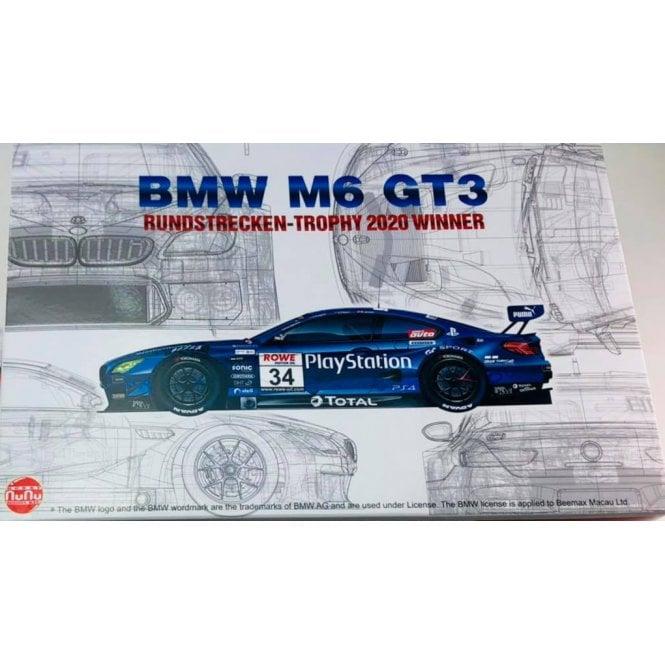 NUNU 1:24 BMW M6 GT3 Rundstrecken-Trohy 2020 Winner Car Model Kit
