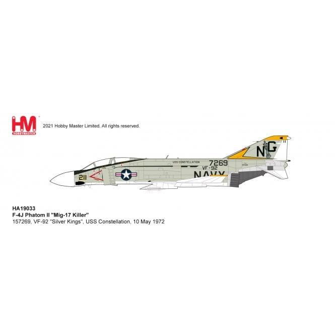"""Hobby Master 1:72 F-4J Phatom II """"Mig-17 Killer"""" 157269, VF-92 """"Silver Kings"""", USS Constellation, 10 May 1972"""