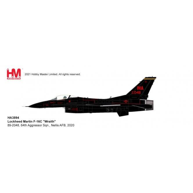 "Hobby Master 1:72 F-16C ""Wraith"" 89-2048, 64th Aggressor Sqn., Nellis AFB, 2020"