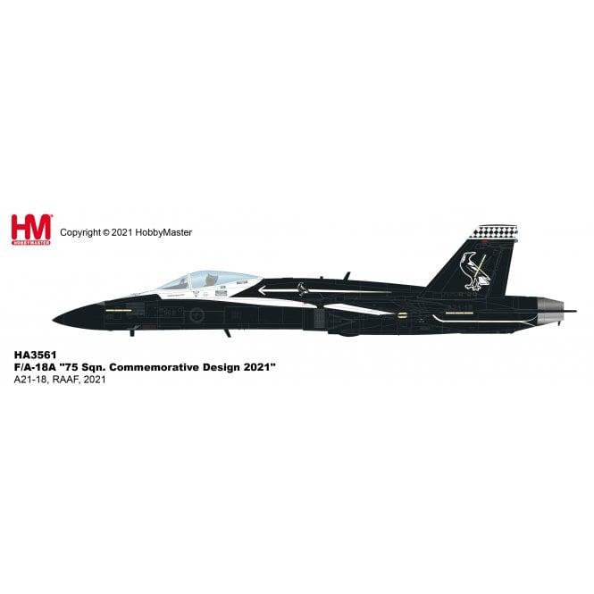 "Hobby Master 1:72 F/A-18A Hornet ""75 Sqn. Commemorative Design 2021"" A21-18, RAAF, 2021"