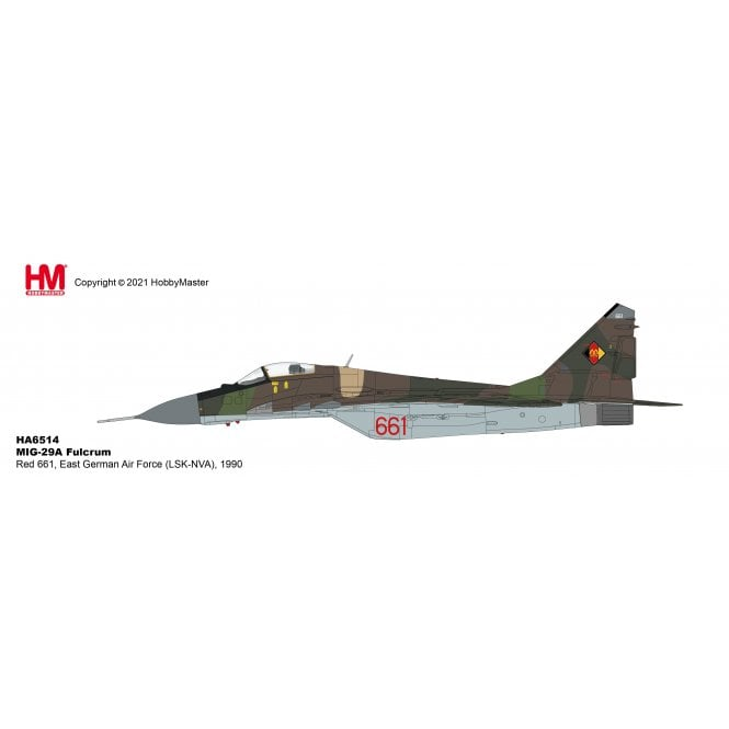 Hobby Master 1:72 MIG-29A Fulcrum Red 661, East German Air Force (LSK-NVA), 1990