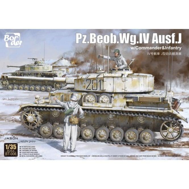Border Models 1:35 Pz.Beob.Wg.IV Ausf.J w / Commander + Infantryman Military Model Kit