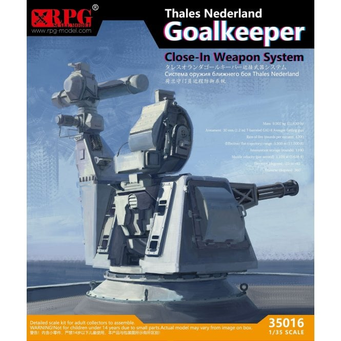 RPG 1:35 CIWS Thales Goalkeeper Close-In Weapon System Model Ship Kit