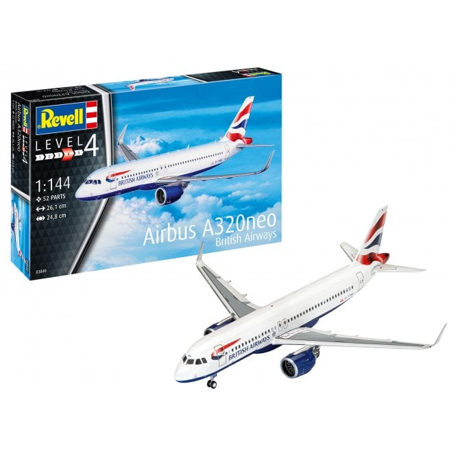 """Revell 1:144 Airbus A320neo """"British Airways"""" Aircraft Model Kit"""