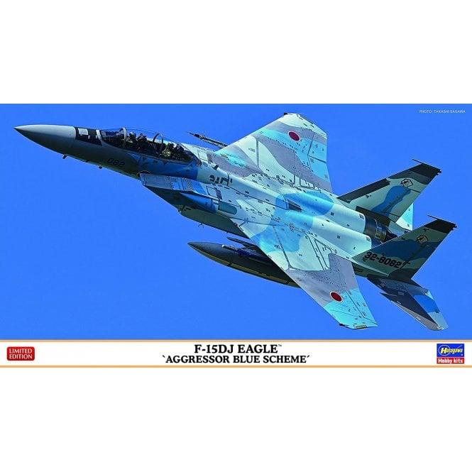 Hasegawa 1:72 F-15DJ Eagle ' Aggressor Blue Scheme ' Aircraft Model Kit