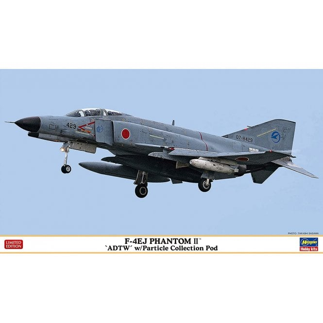 """Hasegawa 1:72 F-4EJ Phantom II™ """"ADTW"""" w/Particle Collection Pod Aircraft Model Kit"""