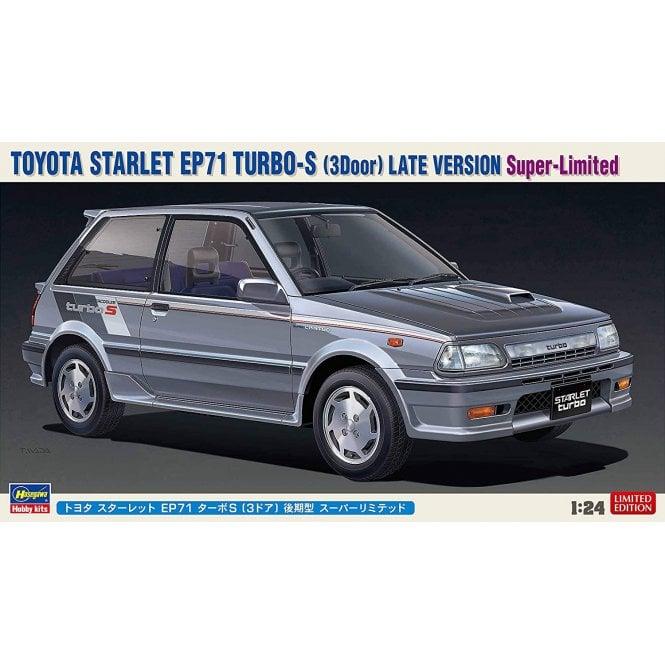 Hasegawa 1:24 Toyota Starlet EP71 Turbo-S (3Door) Late Version Car Model Kit