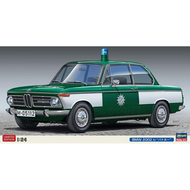 Hasegawa 1:24 BMW 2002 German Police Car Model Kit