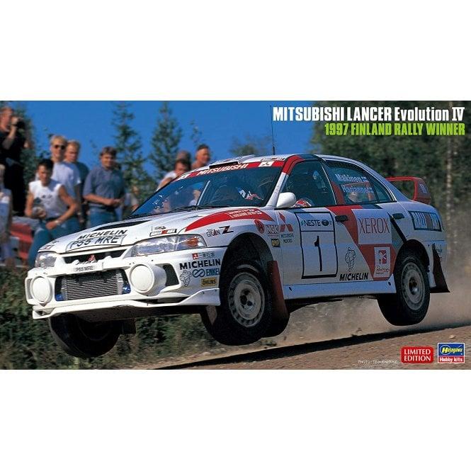 Hasegawa 1:24 Mitsubishi Lancer Evo-IV  1997 Finland Rally Winner Car Model Kit
