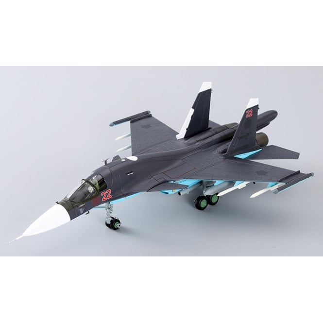 Hobby Master 1:72 Su-34 Fullback Fighter Bomber Red 22, Russian Air Force, Syria, 2015