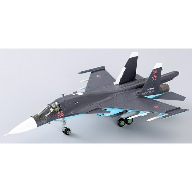Hobby Master 1:72 Su-34 Fullback Fighter Bomber Red 24, Russian Air Force, Syria, 2015