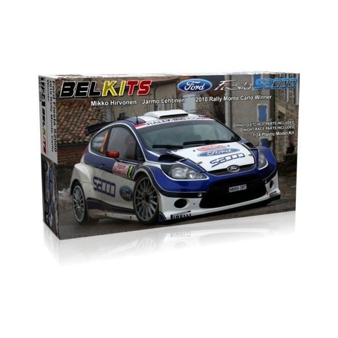 Belkits 1:24 Ford Fiesta S2000 2010 Monte Carlo Rally Winner Car Model Kit