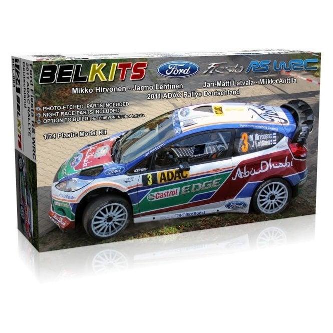 Belkits 1:24 Ford Fiesta RS WRC 2011 ADAC Rallye Deutschland Car Model Kit