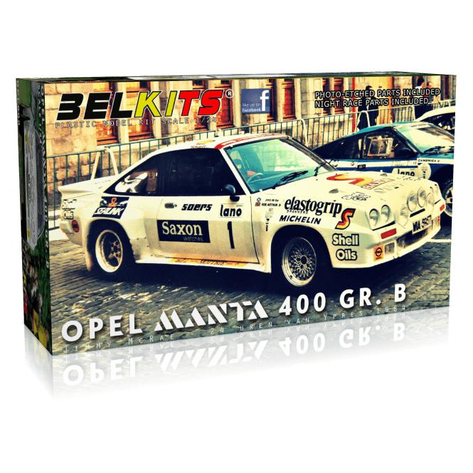 Belkits 1:24 Opel Manta 400 GR. B 24 Uren van Ieper Car Model Kit