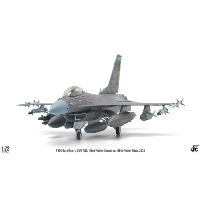 JC Wings 1:72 F-16C Fighting Falcon USAF ANG, ' Dark Vipers ' 112nd FS, 180th FW 2020