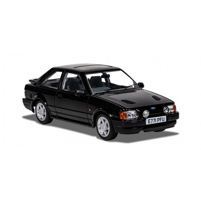 Corgi Vanguards 1:43 Ford Escort Mk4 RS Turbo Black Model Car (New Tooling)