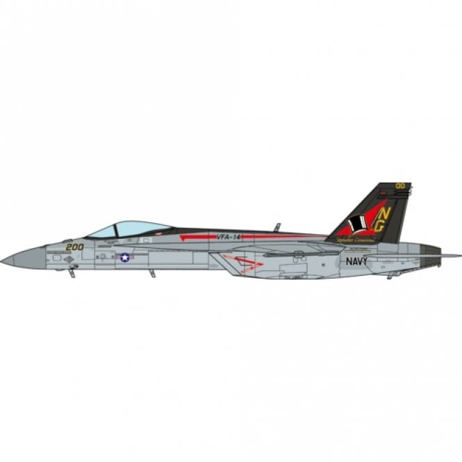JC Wings 1:72 F/A-18E Super Hornet US Navy, VFA-14 Tophatters, 100th Anniversary Edition 2019