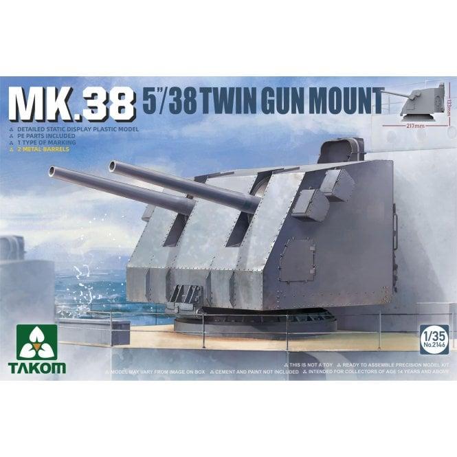 Takom 1:35 MK.38 5 '' / 38 Twin Gun Mount Model Ship Kit