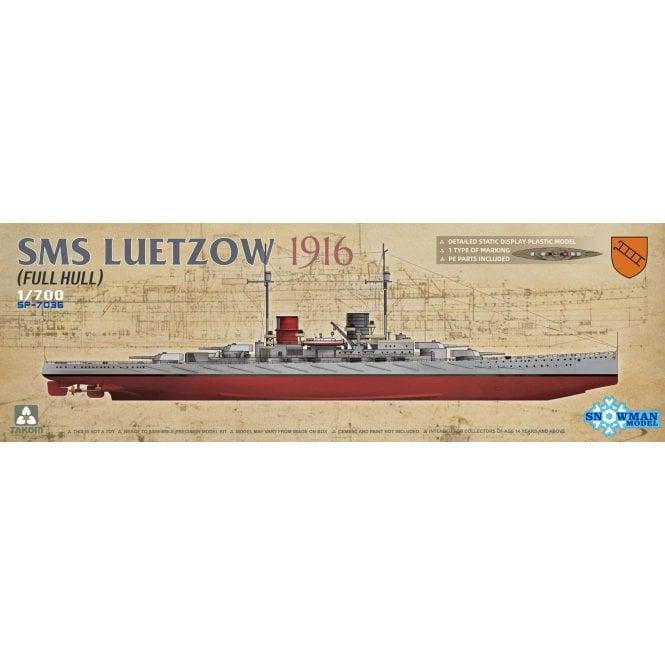 Takom 1:700 SMS Luetzow 1916 (Full Hull) Model Ship Kit