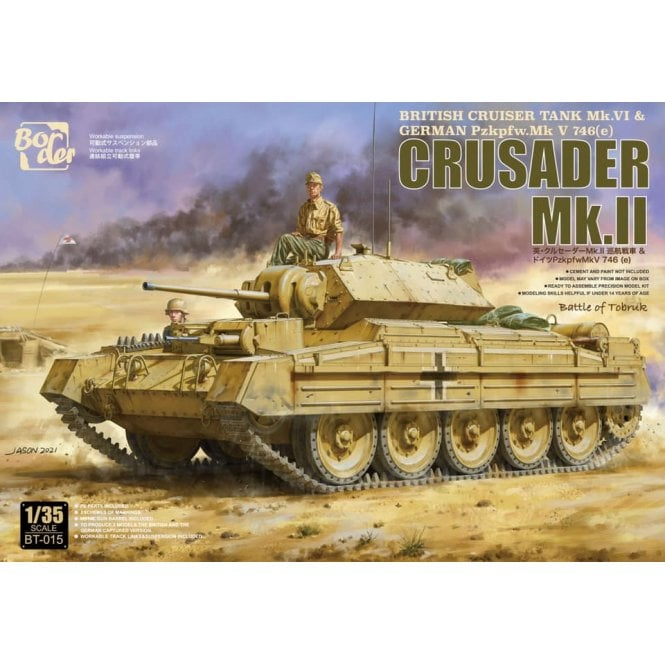 Border Models 1:35 Crusader Mk.II - German Pz. 746(e) Military Model Kit
