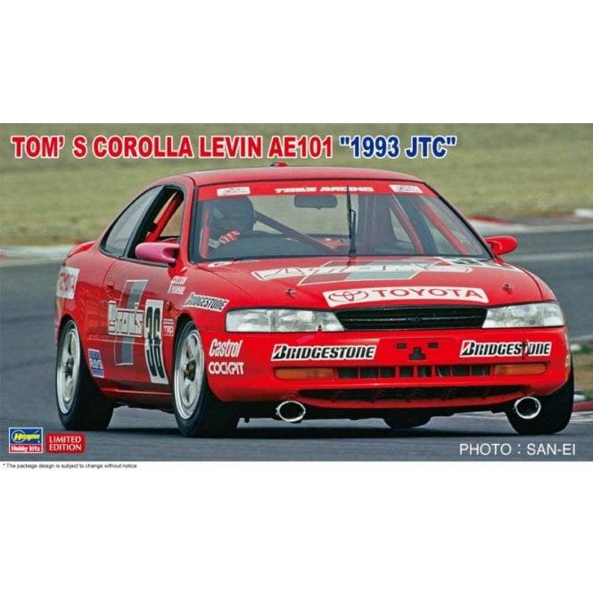 Hasegawa 1:24 Tom's Corolla Levin AE101 1993 JTC Car Model Kit