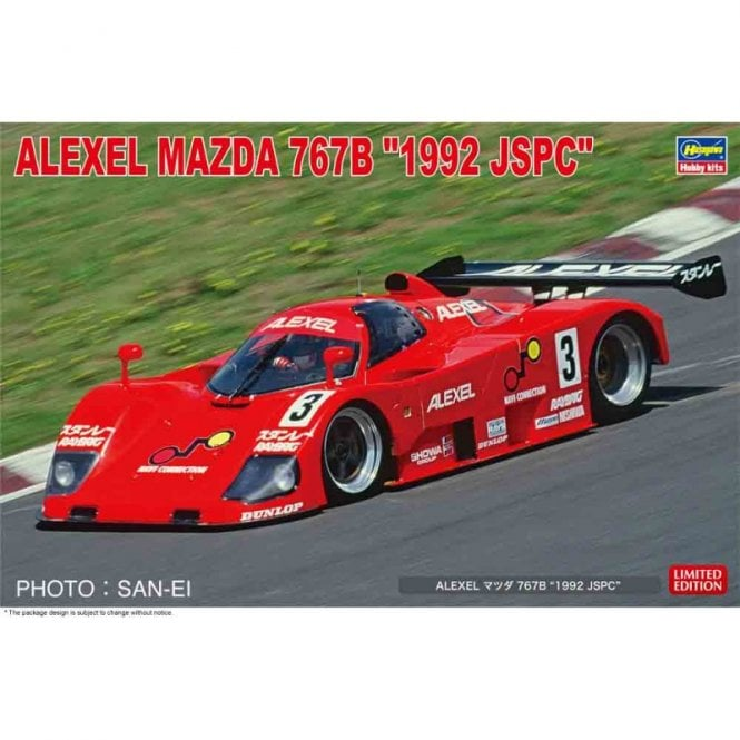 Hasegawa 1:24 Alexel Mazda 767B  1992 JSPC Car Model Kit