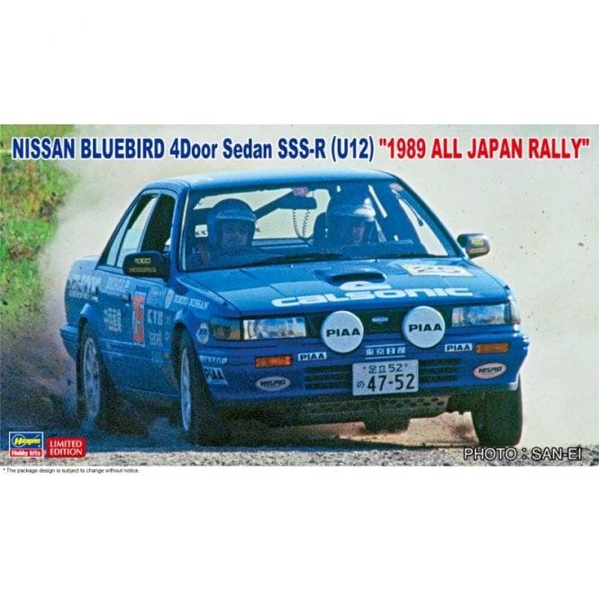 Hasegawa 1:24 Nissan Bluebird 4Door Sedan SSS-R U12 1989  - Japan Rally Car Model Kit