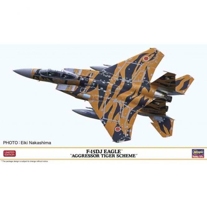 Hasegawa 1:72 F-15DJ Eagle - Aggressor Tiger Scheme Aircraft Model Kit