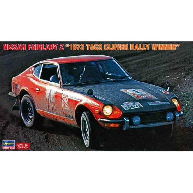 Hasegawa 1:24 Nissan Fairlady Z - 1973 TACS Clover Rally Winner Car Model Kit