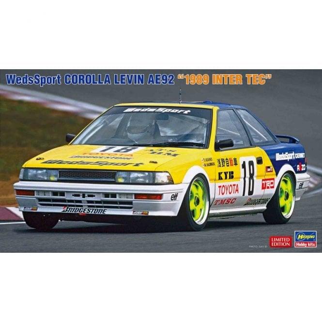 Hasegawa 1:24 Wedssport Corolla Levin AE92 - 1989 Inter Tec Car Model Kit