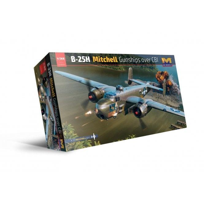 Hong Kong Models 1:32 B-25H Mitchell Gunship over CBI Aircraft Model Kit