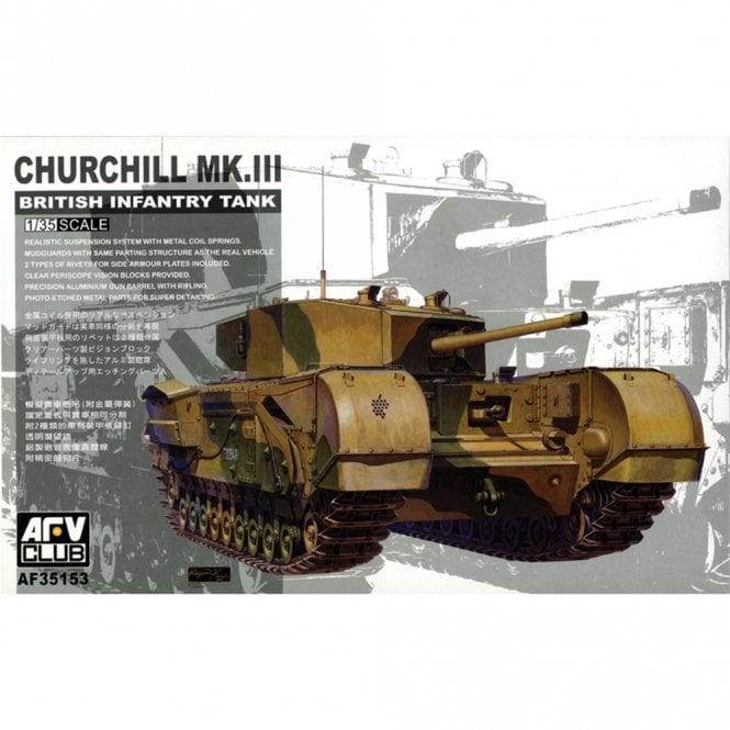 AFV Club 1:35 Churchill Mk III British Infantry Tank Military Model Kit