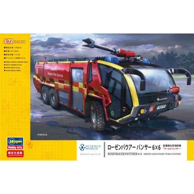 Hasegawa 1:72 Rosenbauer Panther 6×6 Airport Crash Tender Model Kit
