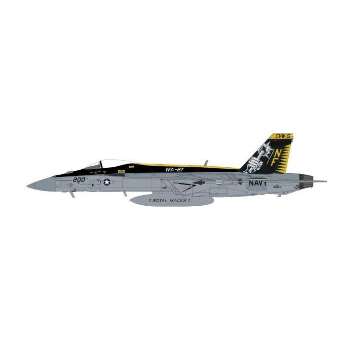 "Hobby Master 1:72 F/A-18E Super Hornet 168363, VFA-27 ""Royal Maces"", CVW-5 CAG, USS Ronald Reagan, Atusgi Air Base, 2015"